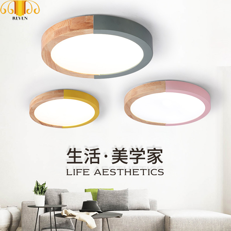 Reven Led Ceiling Modern Iron Acryl Colorized Round 5cm Super Thin Led Lamp.led Lights In Short Supply Ceiling Lights