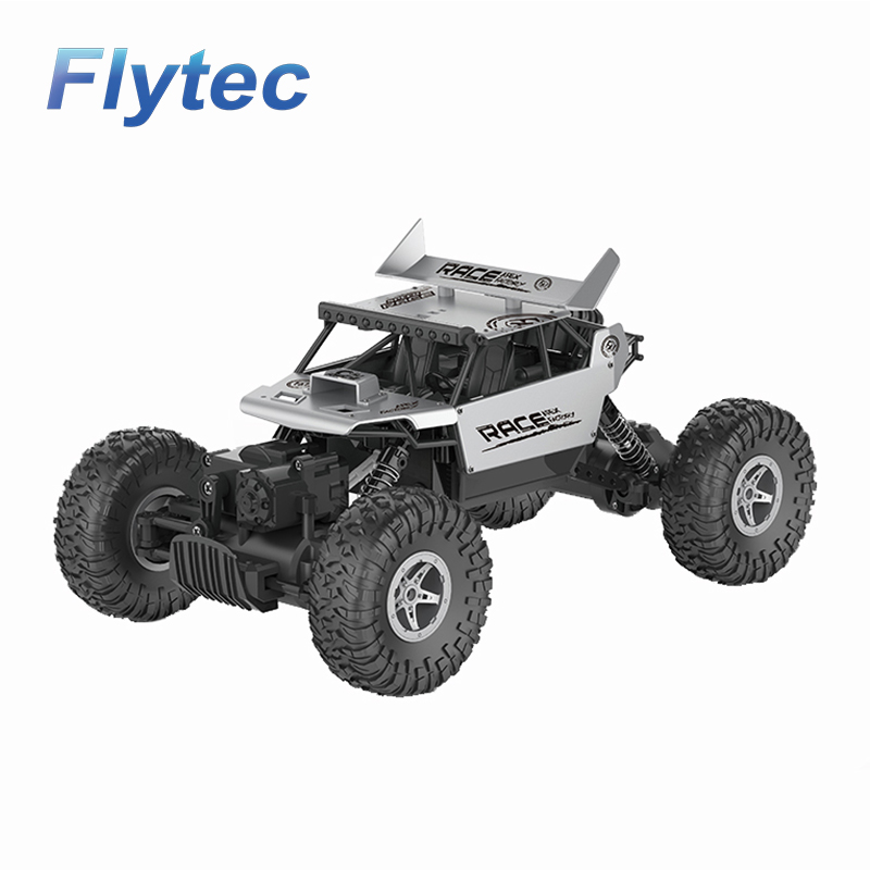 Flytec 9118 1/18 Alloy Body Shell Crawler RC Machine Buggy Remote Car 2.4G 4WD High Speed Truck Climbing Car Toys For Children