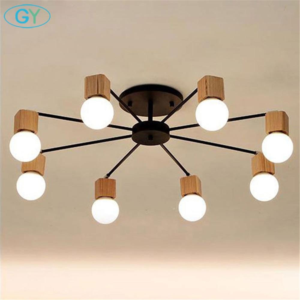 AC100-240V ağac LED tavan işıqları oturma otağı uşaq otağı uşaq otağı tavan lampası müasir lustres de sala plafon işıqlandırma