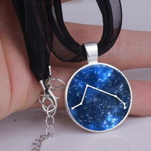 2016 Hotsale Constellation Aries Jewelry Glass Pendant Necklace Astronomy Science Necklaces 2colors YLQ0120 Drop shipping