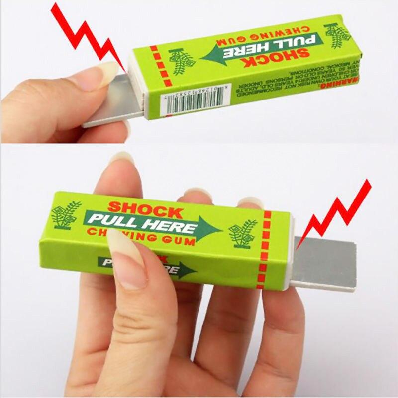 Случайный цвет Шутка игрушки электрическим током Шокирующая забавные тянуть голову жевательная резинка Игрушки-приколы для удовольствия