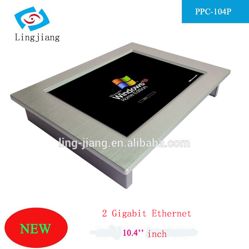Fanless 10.4 inch touch screen industrial panel pc with intel atom N2800 CPU onboard support windows10 Os