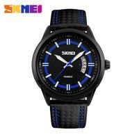 SKMEI 9116 Men Fashion Quartz Watch Analog Display Japan Movement Leather Strap Watches Relogio Masculino