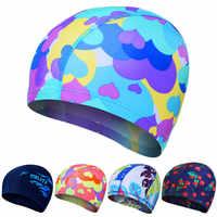 High Elastic Swimming Caps Adult Waterproof Stretchable Comfortable Ears Protection Long Hair Summer Swiming Pool Bathing Hat