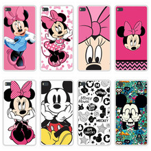 Case For Huawei P8 Soft Silicone TPU Mickey Minnie Pattern Printing Coque For Huawei P 8 GRA L09 Phone Case Cover(China)