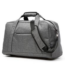 Modny top Canvas torba podróżna torby dla kobiet torba weekendowa duża pojemna torba człowiek Carry on bagaż torby na ramię noc bolsa tanie tanio E KUIZAI Płótno Na co dzień zipper Stałe Podróż torba Miękkie Outdoor Shoulder Bag Travel Duffel Handbag 28cm 46cm