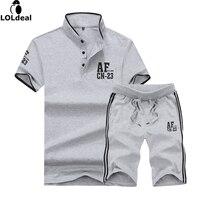T Shirts Shorts Summer Brand Tshirt Men Letter Printed Sportsuit Set T Shirt Suit Male Famous