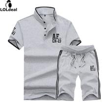 T Shirts + Shorts Summer Brand Tshirt Men Letter Printed Sportsuit Set T-Shirt Suit Male Famous Top Shirt 5XL