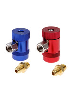 1Pair R1234yf Quick Coupler Adapter Conversion Kit for Land Rover Kit Adjustable Car AC High / Low Side Quick Coupler Connector