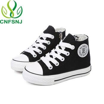 ¡Novedad de primavera-otoño 2020! Zapatos para niños y niñas de CNFSNJ, zapatillas de lona para niños de color blanco de alta calidad y a la moda, disponible en 4 colores, 18-37
