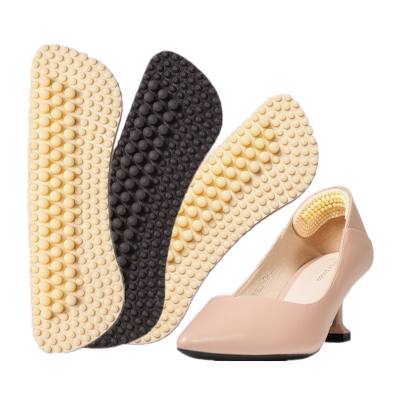 1Pair Fashion 4D Soft Silica Gel  Inserts Fabric Women Liner Protector Foot Feet Shoe Insert Pad Insole Cusion