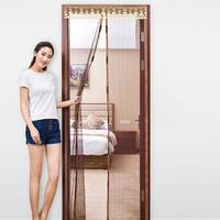 Summer Anti Mosquito Magnetic Soft Screen Door Curtain Insect Mesh Fly Bug Protect Encrypted Partition Curtains