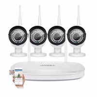 ANNKE 960P HD Wi Fi Home Video Surveillance System 1 3MP 4CH Wireless NVR CCTV System