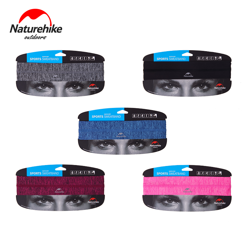 Naturehike New Quick Dry Breathable Sweatband Sports Safety Yoga Running Football Gym Headband Hairband For Women Men 6 Colors