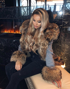 Image 5 - OFTBUY New Winter Jacket Women Parka Real Fur Coat Natural Raccoon Fur Collar Real Fox Fur Liner Thick Warm Outerwear Streetwear