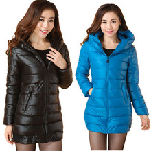 2017 Women s New Slim Female Winter Down Jacket Coat Long Sections Cotton Ladies Padded Jacket