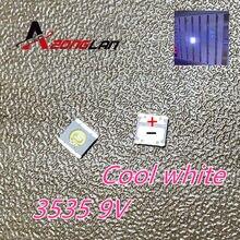 100 pçs/lote Para SHARP LED TV Aplicação Backlight LCD para TV LED Backlight 1W 9V 3535 3537 Legal branco