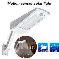 Outdoor Lighting 48 LED Solar LED Light Wall Lamp PIR Sensor Motion Emergency Adjustable Pole IP65 Waterproof 4 Modes For Garden