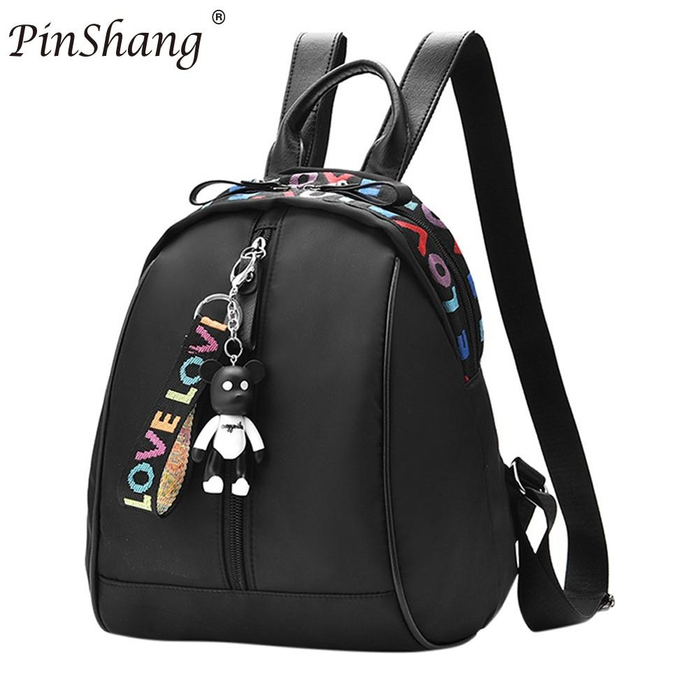 PinShang Women Girl Oxford Fashionable Stylish Colorful Letter Backpack Travel Casual Bag For Teenagers Girls Top-handle ZK25