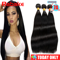 7A Unprocessed Peruvian Virgin Hair Straight 3/4 Bundle Deals Natural Black Straight Hair Extensions Beauty Forever Hair Tissage