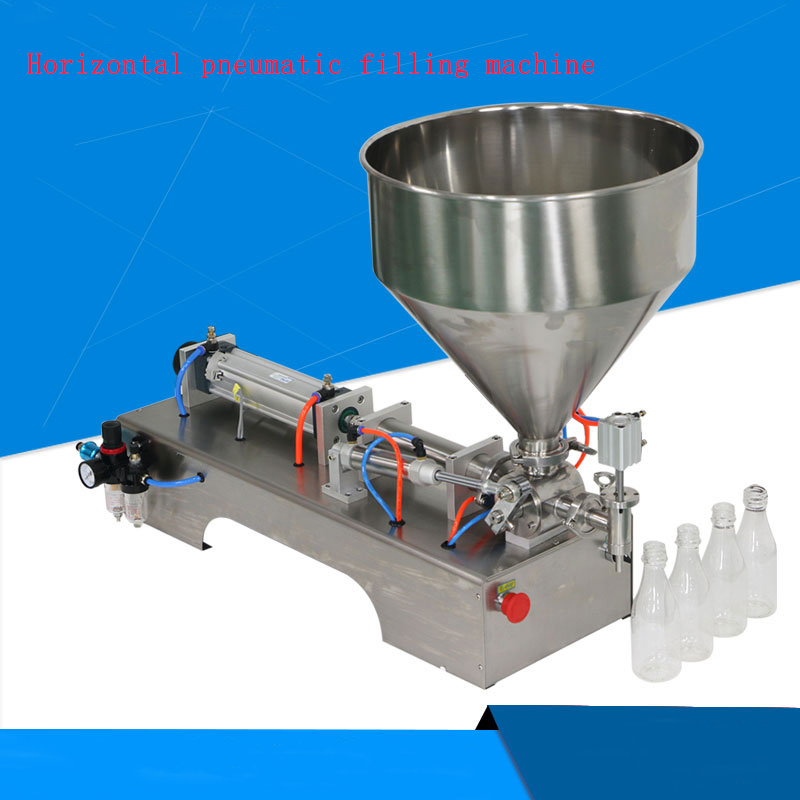 Automatic Quantitative Single-head Pneumatic Piston Filler Liquid Horizontal Pneumatic Paste Filling Machine G1WY good price g1wy 2y 300 pneumatic double head liquid filling machine for water beverage 30 to 300ml