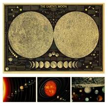 Земля галактика солнечная система винтажные плакаты крафт-бумага бар декоративные настенные стикеры классические картины