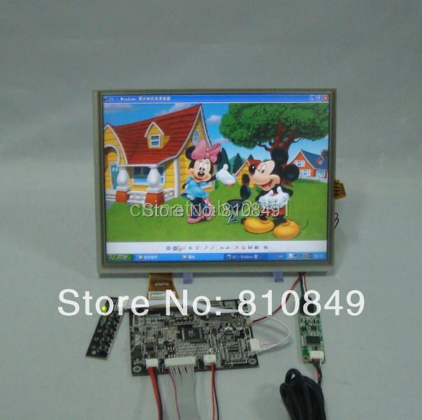 VGA+AV Driver board+10.4inch 800*600 A104SN03 4:3 Lcd panel with touch screen vga 2av revering driver board 8inch 800 600 lcd panel ej080na 05b touch panel