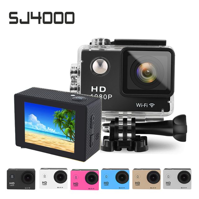 SJ4000 Style 1080P Full HD Sport DV Wifi Mini Action Cameras 2.0 inch LCD Screen 30M Waterproof Mini Camcorder Car DVR