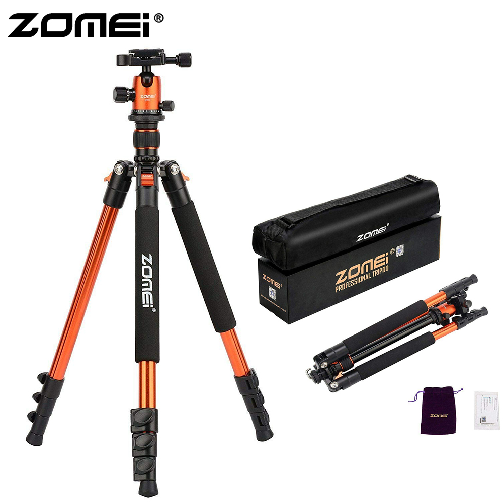 ZOMEI Q555 Lightweight Tripod Portable Travel Camera Stand with 360 Degree Ball Head and Carry Bag for SLR DSLR Digital CameraZOMEI Q555 Lightweight Tripod Portable Travel Camera Stand with 360 Degree Ball Head and Carry Bag for SLR DSLR Digital Camera