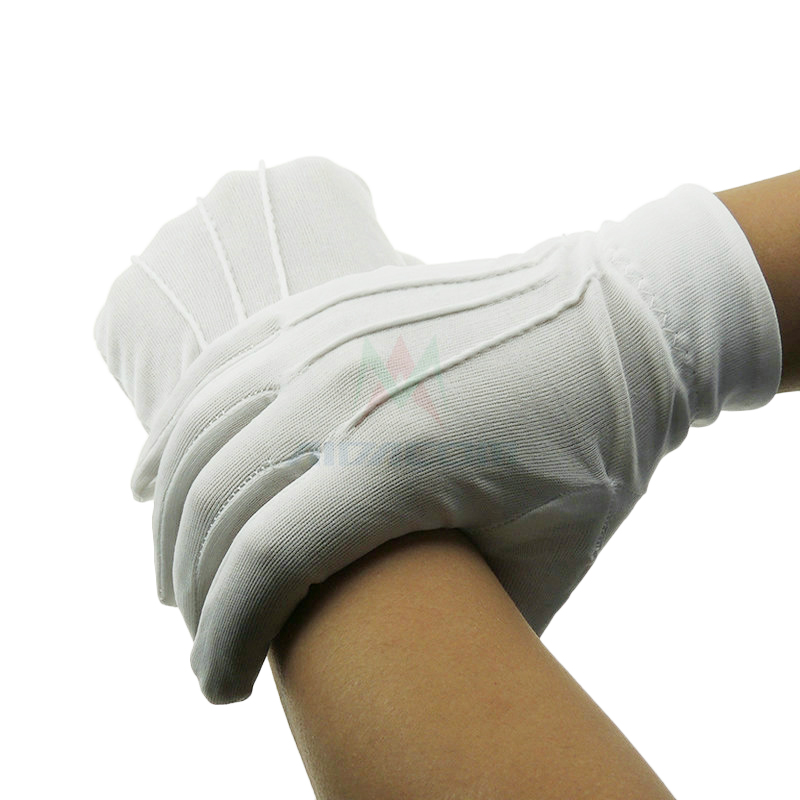 AIDACOM 1 Pair Ceremonial Cotton Gloves 100% Cotton White Color CR0421-1 Safety Gloves new balance 999 ceremonial page 1