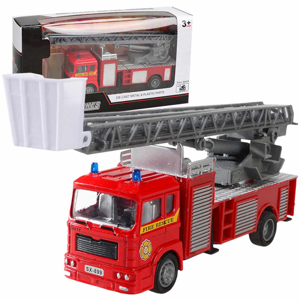 Model cars machine toy Alloy Engineering Toy Mining Car Truck Children's Birthday Gift Fire Rescue garage for fast cars D301010