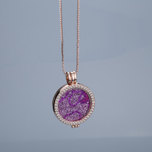 Flash sale pink interchangeable trendy brand new necklaces pendants 35mm coin holder rose gold for women set gift jewelry