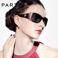 PZPOL9218 2015 PARZIN New Women Brand Designer Steampunk Sunglasses Black Coating Sun Glasses Retro Gafas De