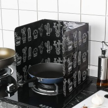 Кактус печатная алюминиевая фольга масляный блок маслосъемная плита Кук анти-брызг масла перегородка теплоизоляция кухонная утварь