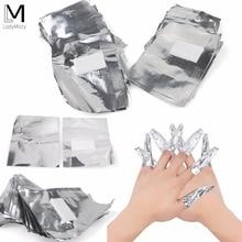100 шт с 50 шт алюминиевой фольгой для снятия Обертывания дизайн ногтей Замачивание акриловый Гель-лак для ногтей снятие макияжа инструмент
