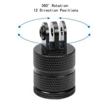 F15580 Aluminium 360 Degree Rotation 12 Direction Positions Camera CNC Connector Tripod Mount for GoPro Hero 2 3 3+ 4 SJ4000 FS цена 2017
