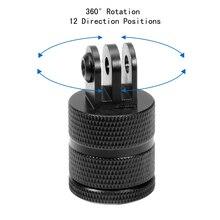 F15580 Aluminium 360 degrés Rotation 12 Positions de Direction caméra CNC connecteur trépied montage pour GoPro 9/8 /MAX pour Gopro tous