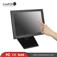 ComPOSxb High Quality Free Shipping 15 Inch Touch Screen Monitor Computer Display Applying Retail Shop Supermarket