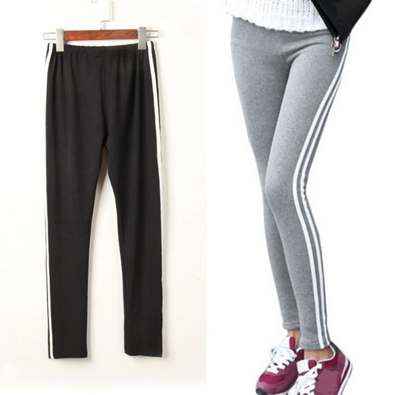 Long Leisure Pants Women Bottoms Autumn Spring Female Clothes Double Striped Jogger Pencil Pants Sweatpants Sportswear Trousers