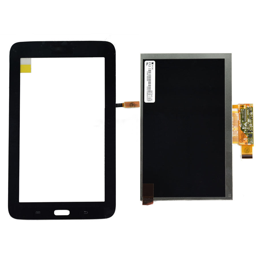 black Touch Screen Digitizer Glass Sensor + LCD Display Panel Screen For Samsung Galaxy Tab 3 Lite SM-T110 Free Shipping for samsung galaxy tab 4 10 1 sm t530 t531 t535 t530 touch screen digitizer lcd glass front panel 1 piece free shipping