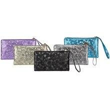 Портмоне женские блестящим узором монет кошелек клатч на молнии в виде нуля; сумочки для телефона, ключей высокого качества портмоне monederos, ПУНКТ#5