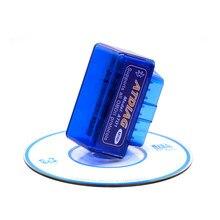 Super mini elm327 v2.1 bluetooth interruptor de alimentação 16pin leitor de código obd2