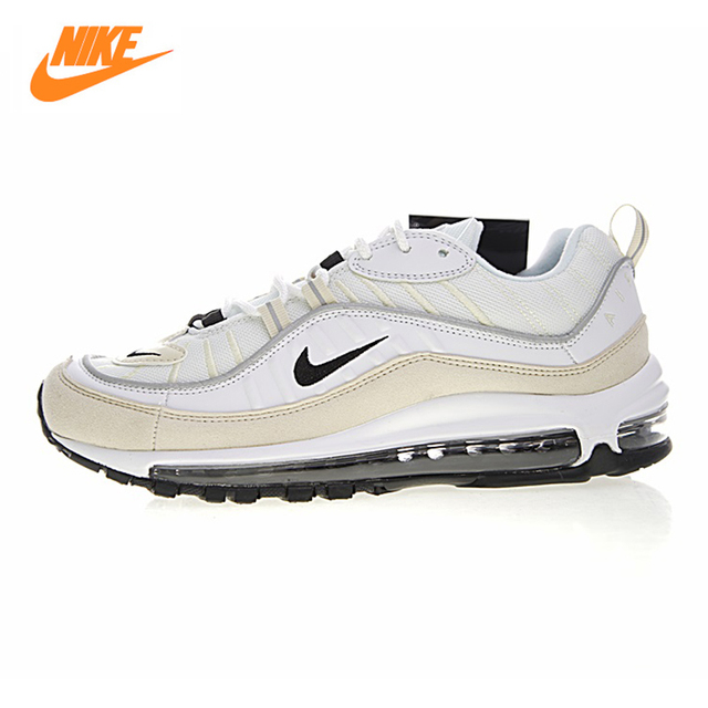 best sneakers 925ff b75bc Nike W Air Max 98 Mens and Womens Running Shoes,Outdoor Sneakers Shoes,  Beige, Breathable Shock-absorbing Non-slip AH6799 102