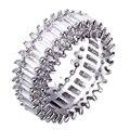 Новая мода Кольца родием с кубической циркон палец Кольцо высокое качество Вечеринка кольца для женщин Бесплатная отправка