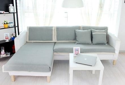 Japan Style Chic Sofa Cover Sofa Towel Cushion Cotton Linen  Fabric Fashion Four Seasons Available Home Wedding Decoration