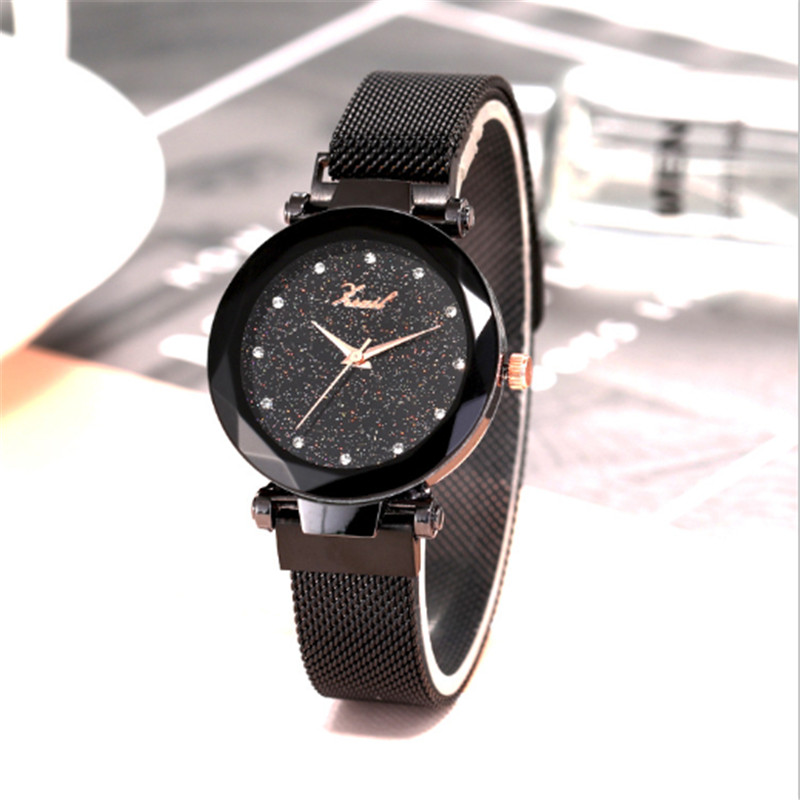 Luxury Exquisite Watches Women Bracelet Fashion Diamond Ladies Dress Starry Sky Magnetic Quartz Wristwatch Relogio Feminino 35 in Women 39 s Watches from Watches