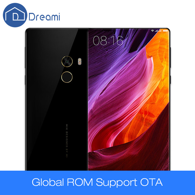 Dreami оригинальный xiaomi mi смешивания pro 6 ГБ ram 256 ГБ rom 6.4 дюймов edgeless дисплей телефон snapdragon 821 мобильный телефон