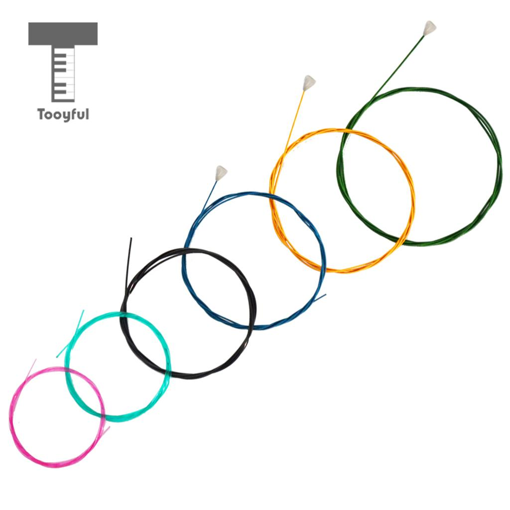 Tooyful Rainbow Colorful Guitar Strings Nylon Strings Set for 6 Strings Classic Classical Guitar Parts туфли donna serena туфли на каблуке