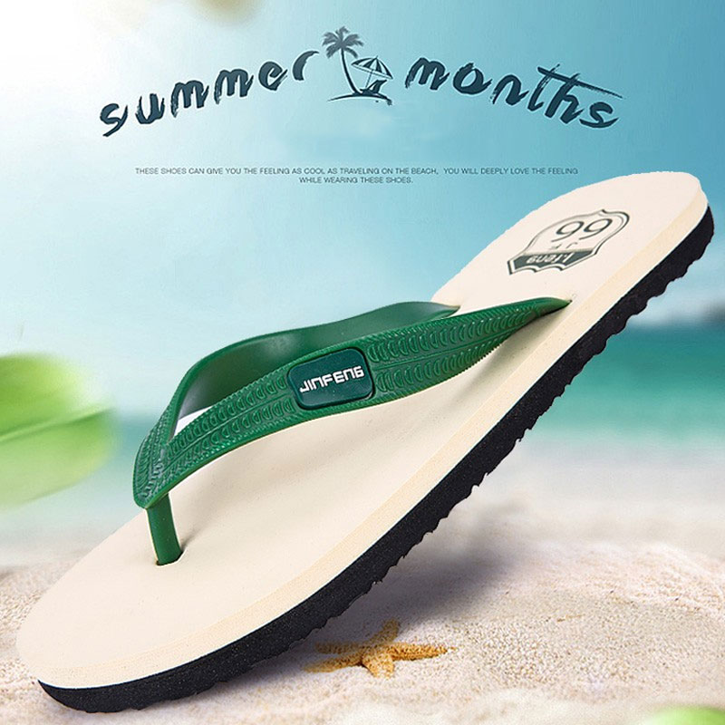 695f2aa050eb Men Flip flops 2016 Summer Style Famous Brand Man Leisure Slippers Shoes  Fashion Men s Casual Beach Sandals Flip Flops for women-in Women s Sandals  from ...