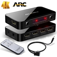 4 Port 4x1 HDMI Switch Support HDMI 2 0 HDCP 2 2 4 In 1 Out